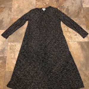 Lularoe grey cardigan euc size medium